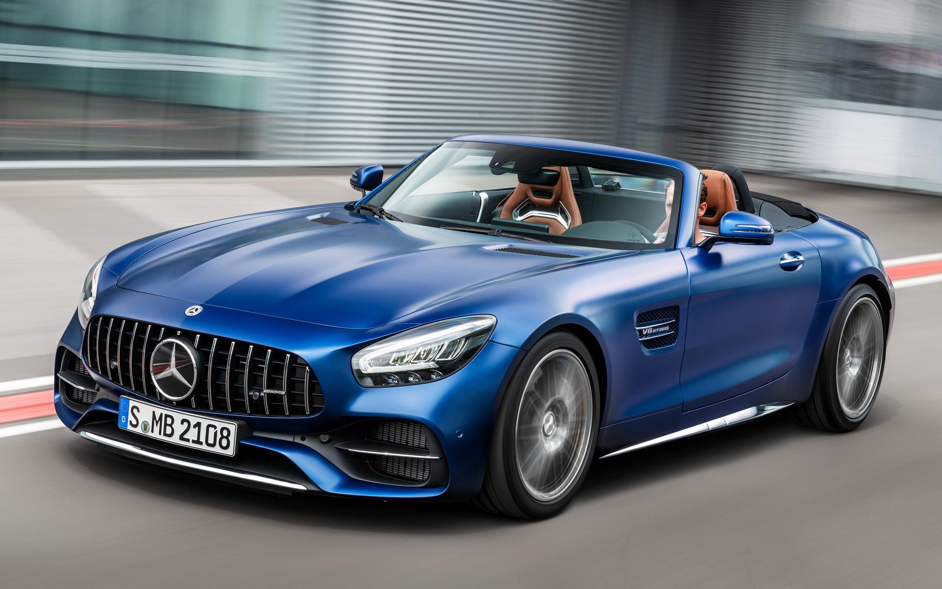 2019 Mercedes Amg Gt C Roadster Hintergrundbilder Und